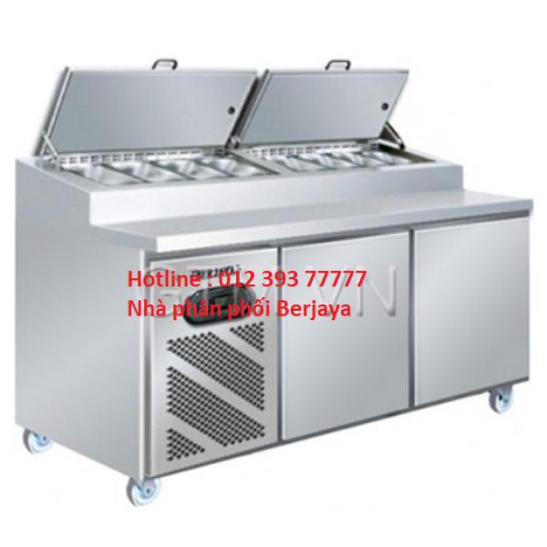 Bàn lạnh Pizza 2 cánh Berjaya BS 2D/PCF6/Z