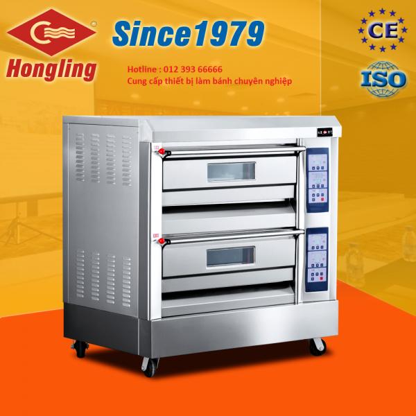 Lò nướng bánh 2 tầng 4 khay điện Hongling XYF-2HP