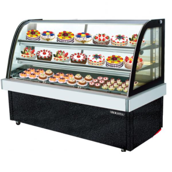 Tủ trưng bày bánh kem kính cong 3 tầng Berjaya CCS12SB13-2FB