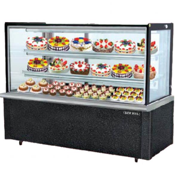 Tủ trưng bày bánh kem kính vuông 3 tầng Berjaya RCS15SB13-2FB